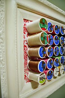 For my thread collection ~ Genius! Think I'll make stickers to cover the spool ends.