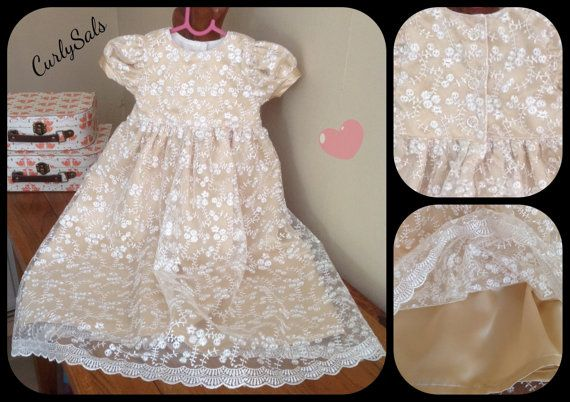 Baby Christening gown christening dress baby naming by CurlySals