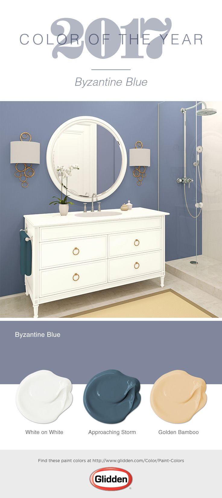 Byzantine Blue, The Glidden® 2017 Color Of The Year, Is Elegant Enough For