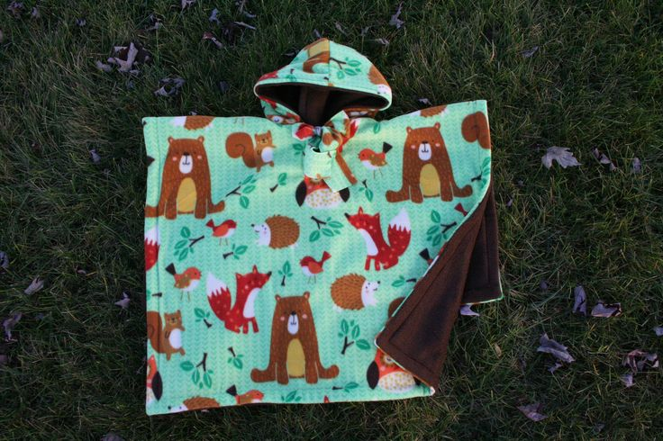 Car Seat Poncho - Car Seat Coat - Car Seat Blanket - Car Seat Cover - Car Seat Fleece Jacket - Kids Gift - Girls Boys Animals Neutral Cute by boobercakes on Etsy