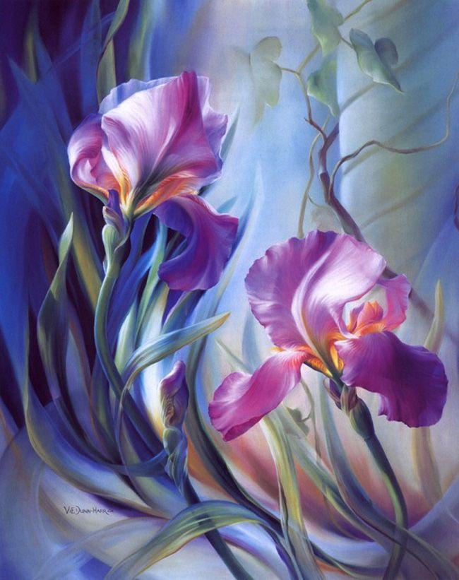 Flower Paintings by Vie Dunn-Harr
