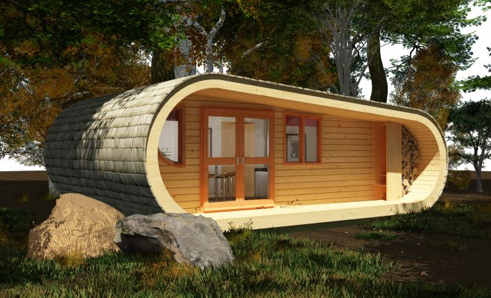 Cool! Tiny house.