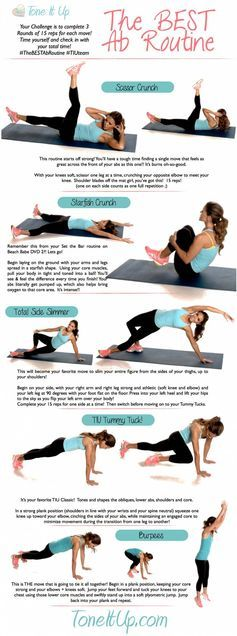 Ab workout from the Tone It Up girls