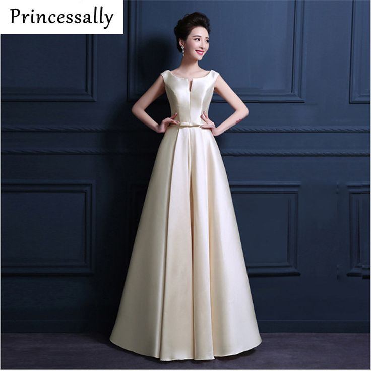 Find More Bridesmaid Dresses Information about High Quality Champagne Bridesmaid Dresses Long Thick Satin Floor Length Elegant Prom Party Dresses Vestido Da Dama De Honra 2017,High Quality 41 chain,China 41 gmc Suppliers, Cheap 41 guitar from Princessally Dresses Store on Aliexpress.com