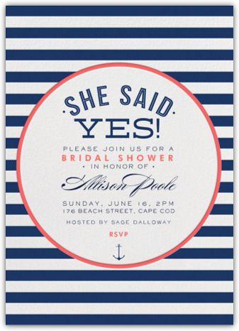 Paperless Post - Nautical Stripe Bridal Shower