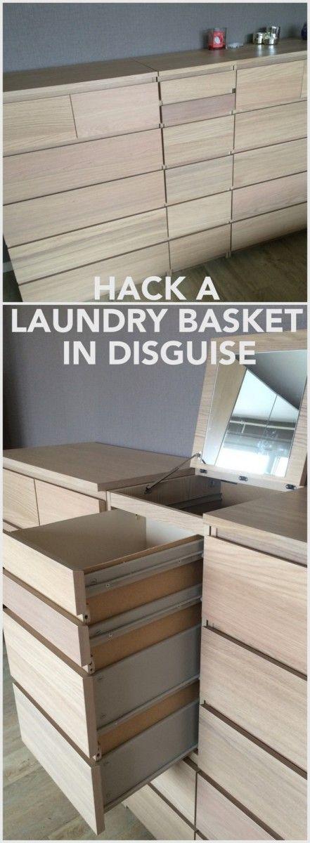 Disguised MALM laundry basket - IKEA Hackers - IKEA Hackers