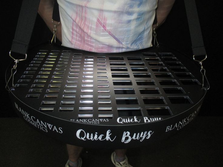 Vendor trays customs built for cosmetics samples with a branded wrap around. #sampling