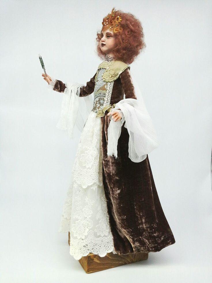 Купить Фея -крестная - фея, коллекционная кукла, интерьерная кукла, красивая кукла, добрая игрушка