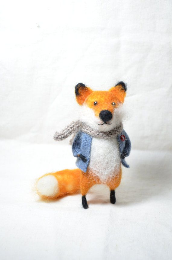 Red Foxy Needle felted ornament animal by feltingdreams on Etsy