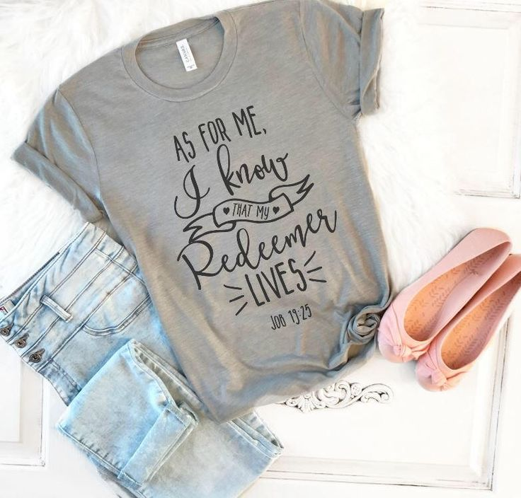 My Redeemer Lives Christian Shirt for Women, Christian TShirt, Christian T Shirt, Christian Clothing for Her, Christian Gifts, Women's Shirt https://www.etsy.com/listing/589526081/my-redeemer-lives-christian-shirt-for