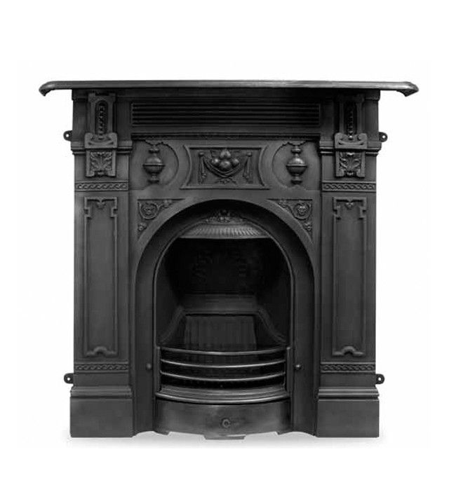 Carron Victorian Large Cast Iron Combination Fireplace Cast Iron