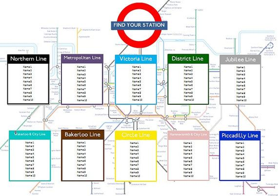London tube map seating plan. http://www.toptableplanner.com/blog/london-underground-wedding-table-plan