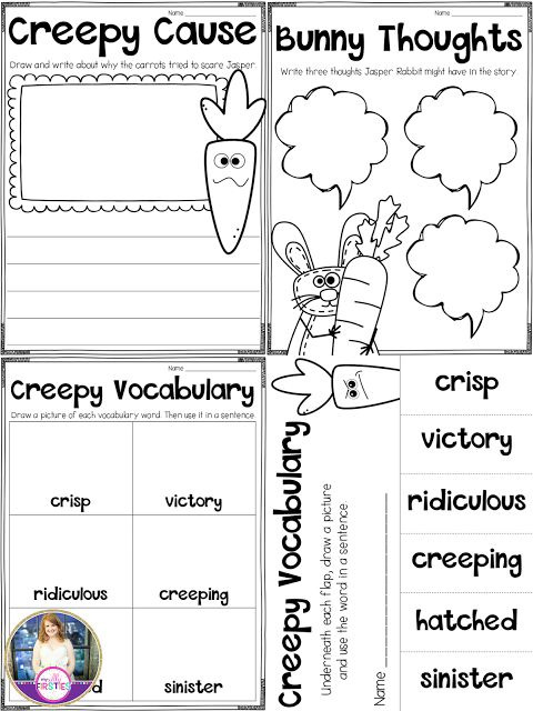 Creepy Carrots read aloud activities for after reading the book. Such a fun read aloud for Fall!