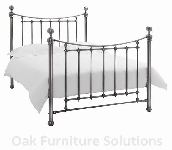 Isabelle Antique Nickel Bedstead - Multiple Metal Bedsteads from Bentley Designs are crafted to exceptional standards and are available from us for delivery within 3 working days. Each bedstead is crafted to exceptional standards with creative  http://www.MightGet.com/march-2017-2/unbranded-isabelle-antique-nickel-bedstead--multiple.asp