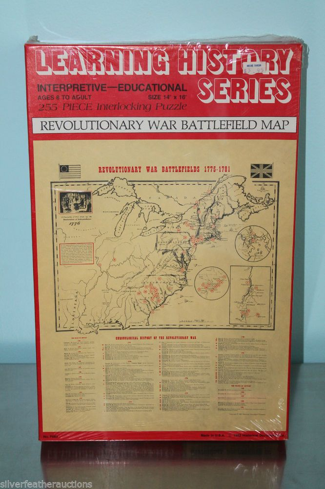 Enjoy Learning Us Map Puzzle%0A NEW Learning History Series Puzzle  Revolutionary War Battlefields      Pieces  LearningHistory