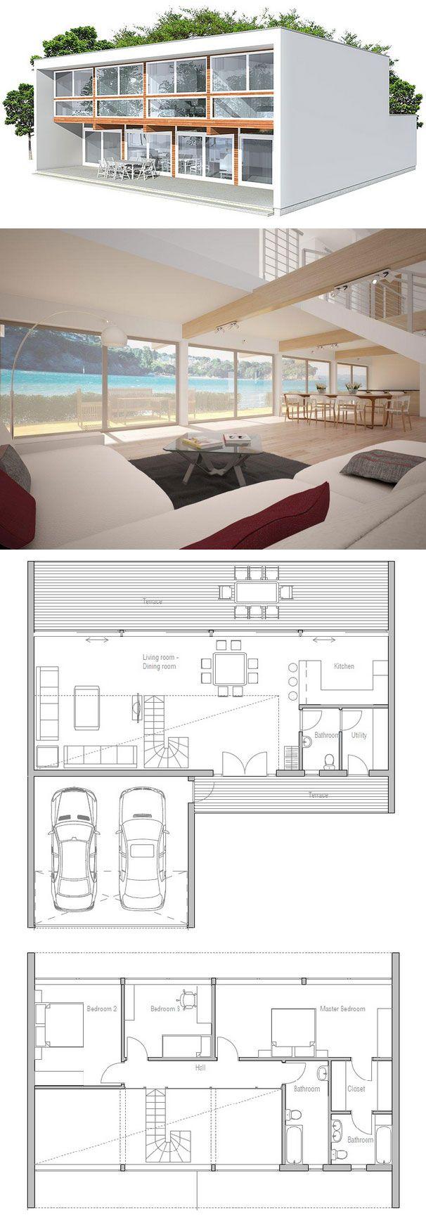 Casa Moderna. Arquitetura contemporânea. Casa de praia.