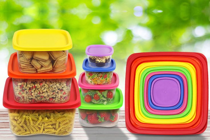Seven Square Stackable Air Tight Rainbow Food Containers deal in Kitchen Keep food fresh and secure with these rainbow food containers!  Each container is microwave, freezer & dishwasher safe.  Keep food fresh and secure!  Get one of each size: 1x 210ml, 1x 330ml, 1x 630ml, 1x 1100ml, 1x 1800ml, 1x 3800ml, 1x 5600ml.  With vibrant coloured lids.  Store anything from sandwiches to pasta! Check...