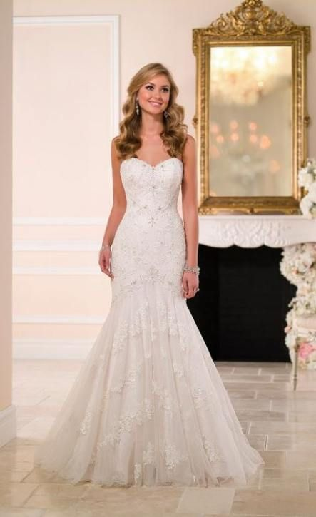 31 Ideas wedding dresses fit and flare strapless stella york