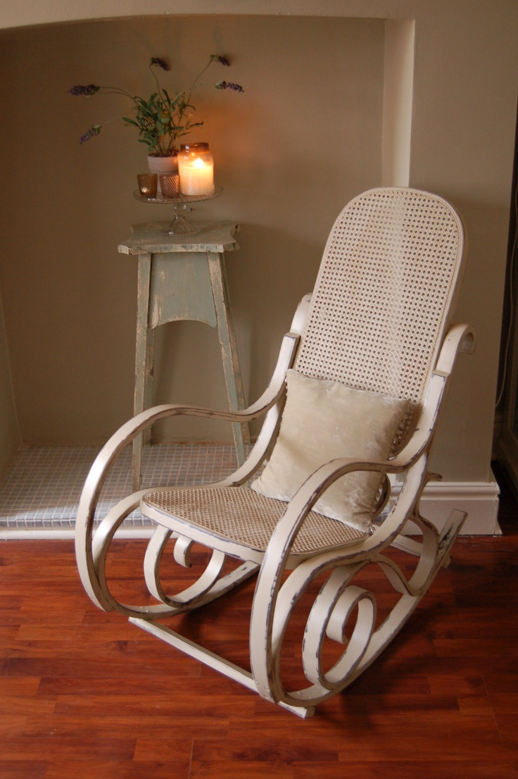 Original white painted bentwood rocking chair is no longer available - Vintage Bentwood Rocker Re Loved In F Old White