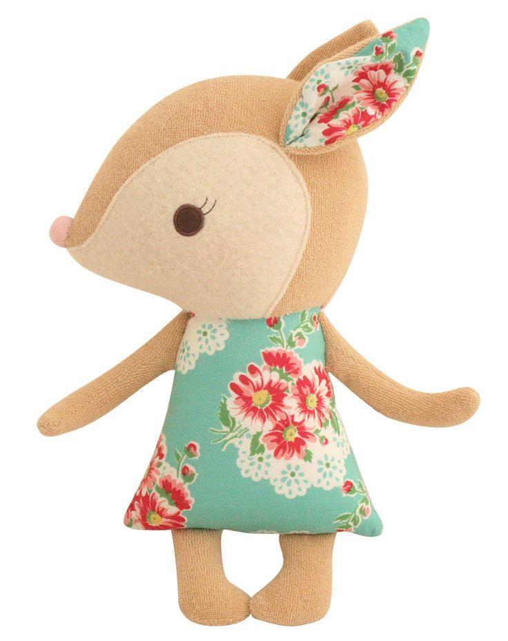 Sweet little deer softie. SO cute!  #baby #decor #plush
