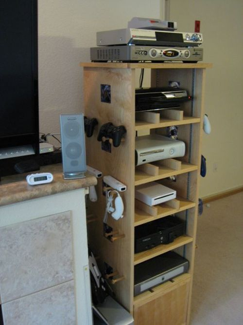 Game Console Cabinet | Awesome Video Game Cabinet For The Avid Gamer