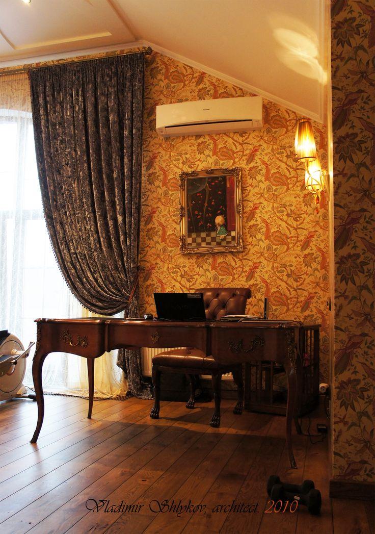 Письменный стол. Interior. Apartment.