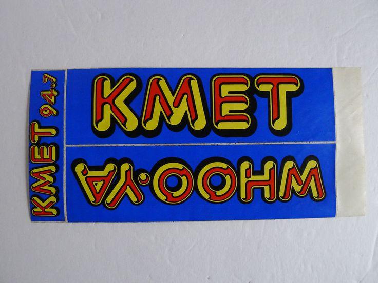 Vintage KMET 94.7 Radio Station 1980's Bumper Sticker Decal WHOO-YA - So Cal