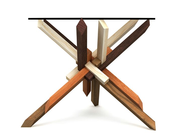 4x3 puzzle coffee table - set up 2 - (Special Edition collection) The collection is inspired by the common approach of making the different types of elements using different types of wood often used by burr puzzle makers. This stylistics emphasizes the tectonics of the structure, unveiling a little bit of the hidden assembly principle. This sensation is even stronger when using very contrast types of wood textures, from almost white to almost black, together with more colorful types.
