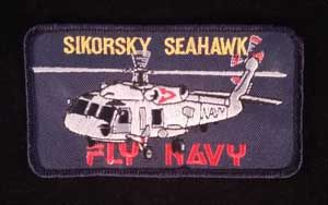Fly in and get this Sikorsky Seahawk Navy Patch. Great military collectable for your collection.
