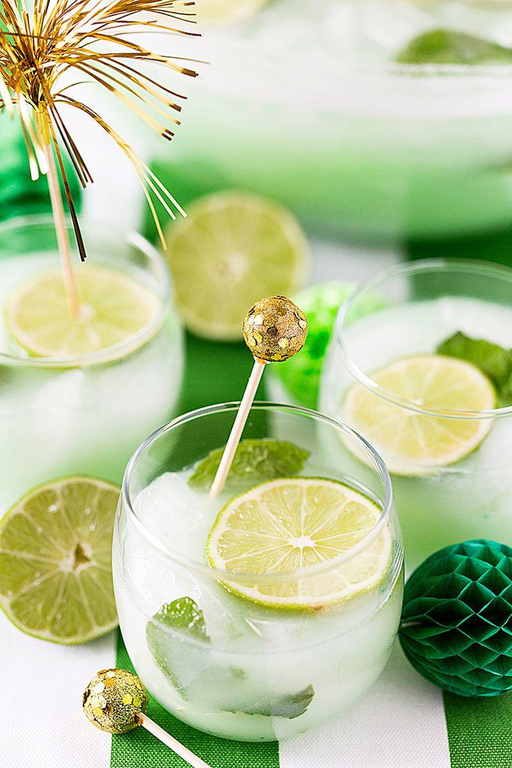 St. Patrick's Day Mojito Sherbet Punch