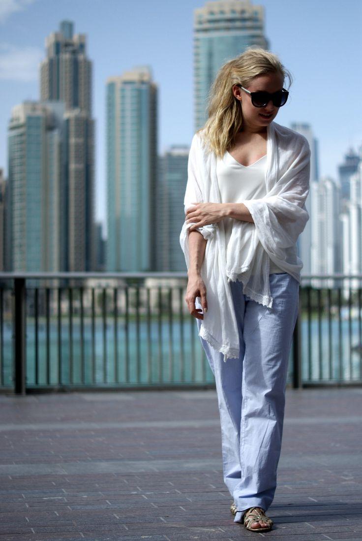 Light blue pyjama pants