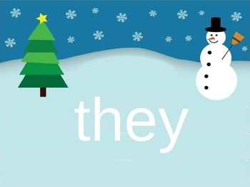 Sight Word PowerPoint (first 100 words) Winter Scene