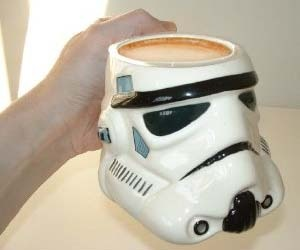 Storm Trooper Coffee Mug - This is the coffee mug you were looking for! This high detailed ceramic Storm Trooper's Head Coffee Mug is a great collector's item for any Star Wars fan