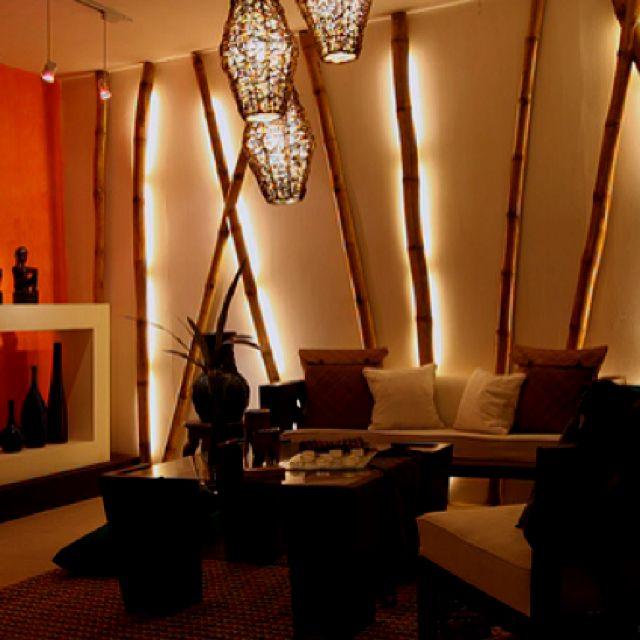 bamboo lighting idea for waiting area/massage room
