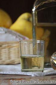 rezetas de carmen: Licor de membrillo