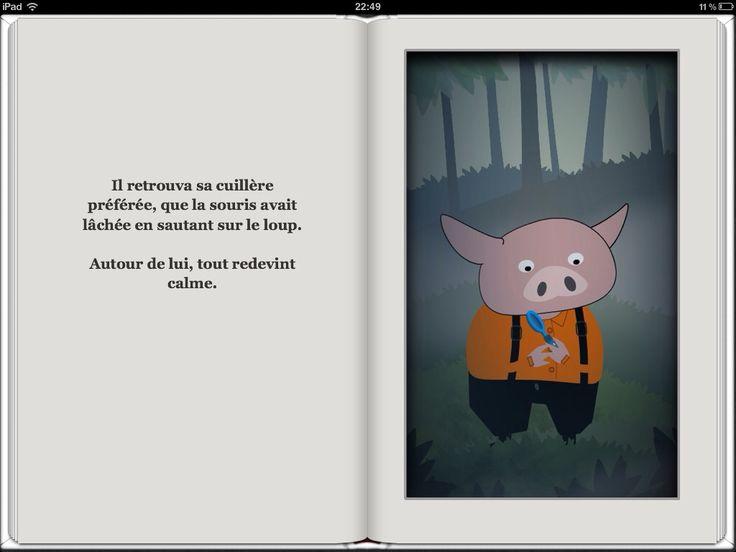 """Extrait de """"Francis et la souris verte"""", un livre numérique animé. Disponible sur iTunes : https://itunes.apple.com/fr/book/francis-et-la-souris-verte/id583345166?mt=11"""