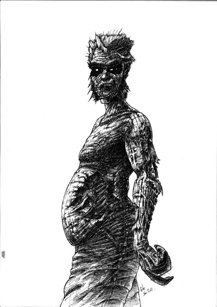 Evil Zombie Side Voew by TrevorDaveSon.deviantart.com on @deviantART