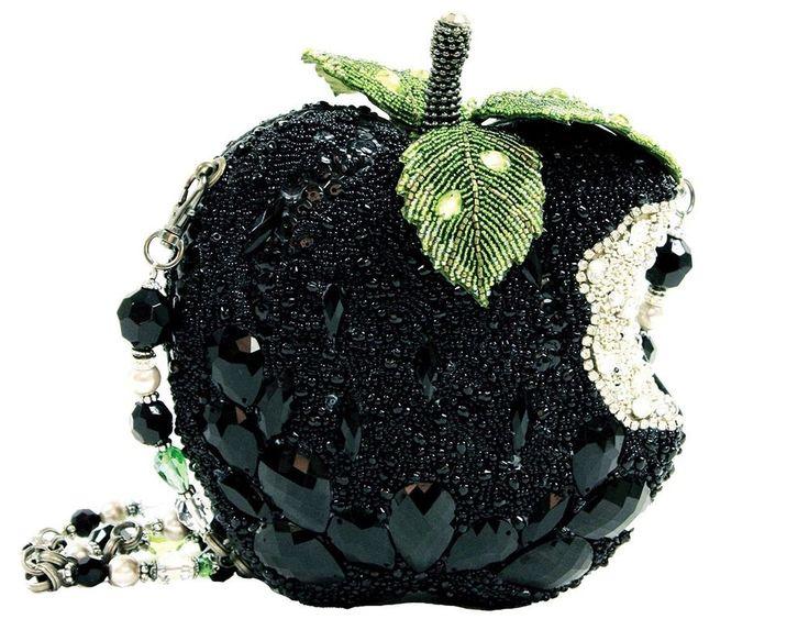 Mary Frances Wicked Black Apple Crystal Green Bag Purse Handbag NEW Winter 2014 #MaryFrances #EveningBag