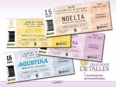 Tarjetas e Invitaciones - Foto Nº:4 de DELICADOS DETALLES Invitaciones y Participaciones 15 años - Título: Tarjetas Tipo Ticketek