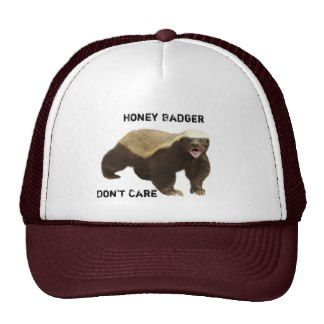 funny honey badger don't care mesh hat