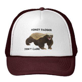funny honey badger don't care mesh hat