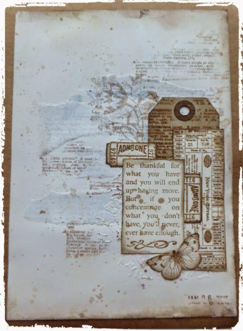 Live The Dream : Jennie Monochrome Art Journal Page