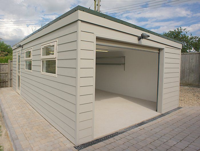 17 best images about pent garages on pinterest side door for Carport garage designs