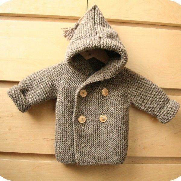 Manteau de Lino bébé T 9/12 mois- tricot gratuit - Tutoriels de tricot chez Makerist