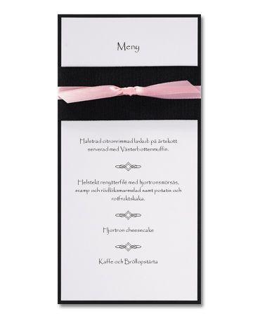 Pink Vogue - menykort i vitt, svart och rosa. #calligraphendetails #calligraphenwedding #menu #menyer #wedding #bröllop #bröllopskort #bröllopsdukning
