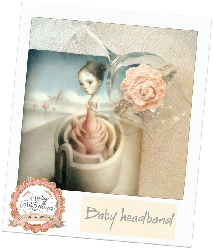 Crochet Baby Newborn Girl Rose hair headband handmade.Uncinetto Rosa Capelli bimba nascituro fascia fatta a mano. Princess accessories. Accessori Principessa
