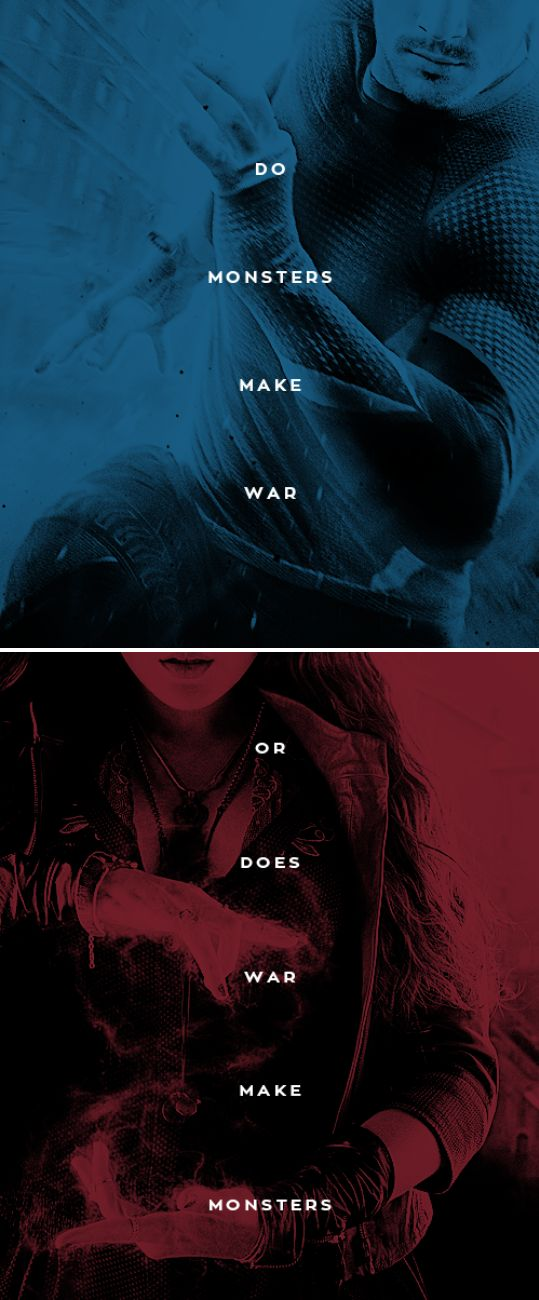 Do monsters make war or does war make monsters? #marvel