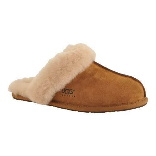 From the Womens Slipper Collection Uppers are twinfaced suede lined with sheepskin. Soles are a lightweight sueded bottom If you are a half size or have wide feet go up to the next size. Example: 8.5