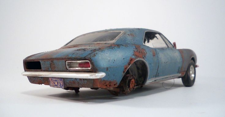 1967 Chevy Camaro SS Pro Built Weathered Barn Find Junker Custom 1/25 Revell | eBay