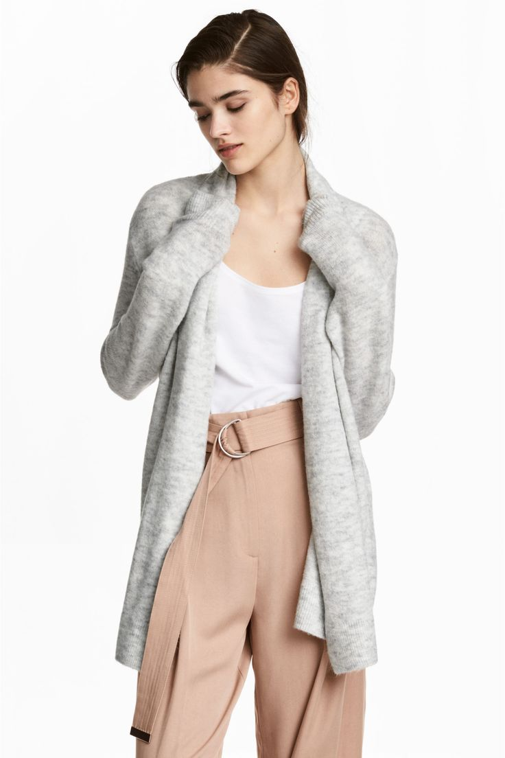 Cardigan cu guler-șal - Gri-deschis - FEMEI   H&M RO